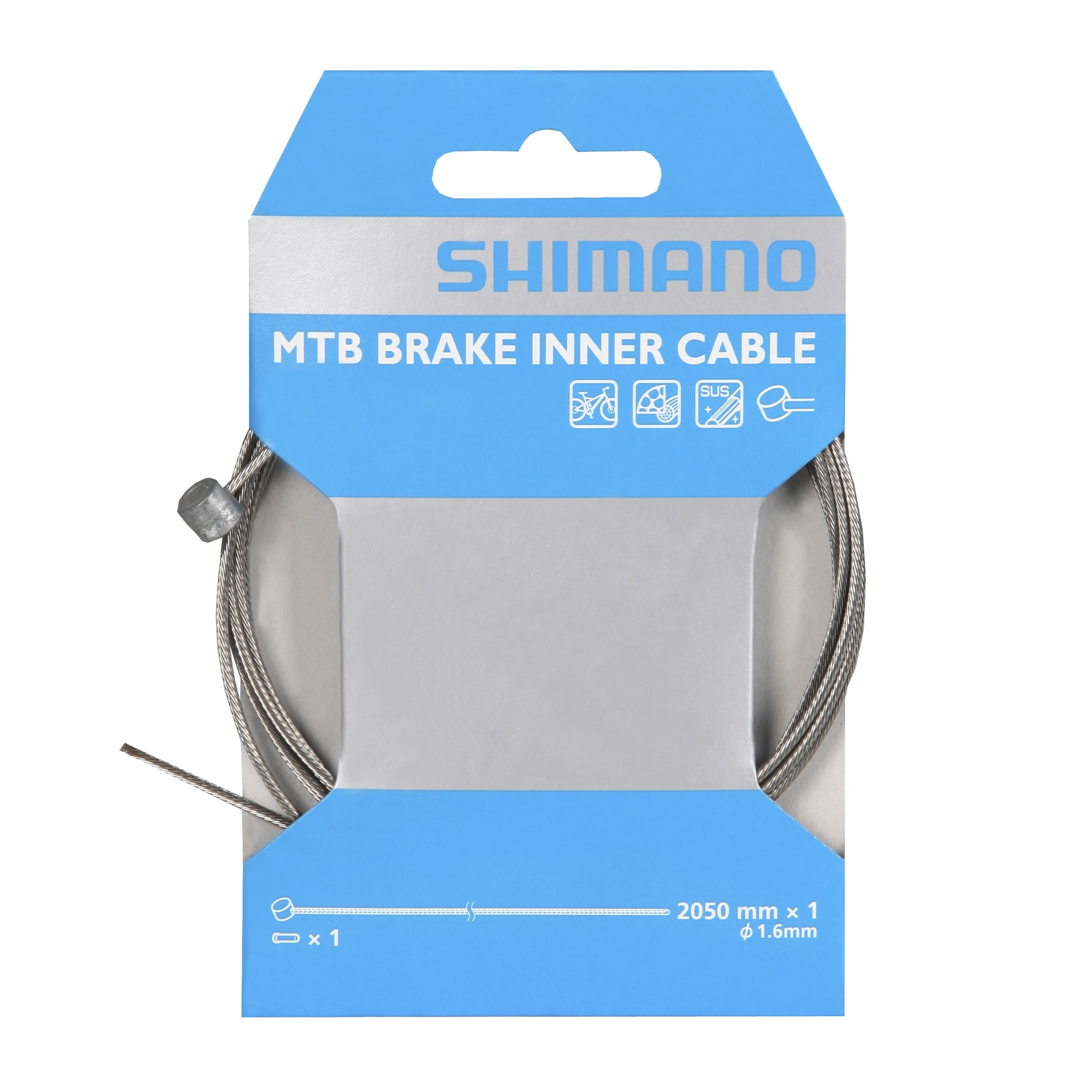 shimano mtb brake inner cable 2050mm probikeshop. Black Bedroom Furniture Sets. Home Design Ideas